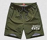 Anhuidsb Pocket Quick Dry Nuoto Shorts moto avventura for BMW 1200GS GS Pantaloncini R 650 800 1150 1200 Motorrad Uomini Costumi da bagno uomo costume da bagno anhuidsb (Color : Army Green)
