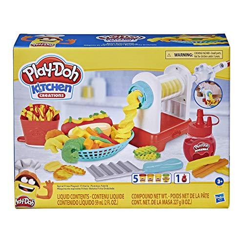 Play-Doh Kitchen Creations-Juego de Patatas Fritas en Espiral para niños a Partir de 3 años, no tóxico, Multicolor (Hasbro F13205L1)