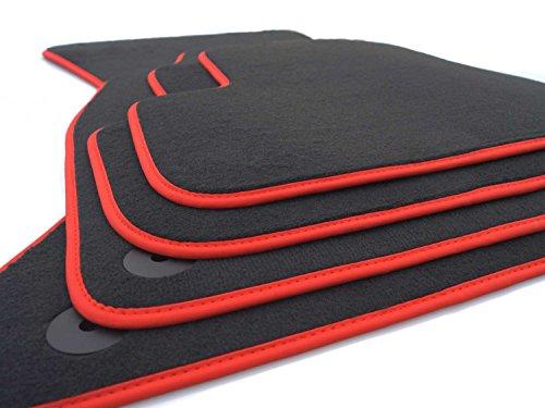 Audi - Tappetini in velluto per auto, per Audi A4 (B8) / A5 Sportback, design S-Line con bordo rosso