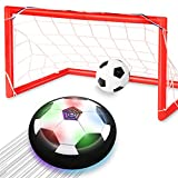 Toyk Kids Toys - LED Hover Soccer Ball Set 2 Goals Mini Screwdriver - Air Power Training Ball Playing Football...