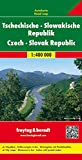 República Checa y Eslovaquia, mapa de carreteras. Escala 1:400.000. Freytag &...