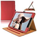 AIWOXING Funda Compatible con iPad 8/7 (10,2 Pulgadas, 2020/2019 Modelo, 8.ª/ 7.ª Generación), Carcasa con Auto-Sueño/Estela, Protección Esquina Multiángulo Soporte Carcasa Apple Tableta, Rojo