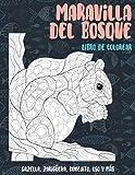 Maravilla del bosque - Libro de colorear - Gazella, zarigüeya, conejito, oso y más