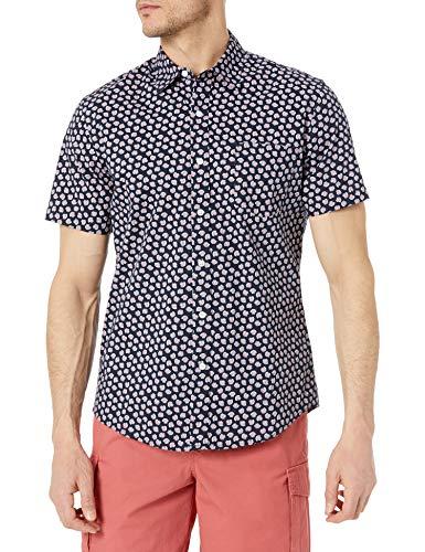 Amazon Essentials Camisa de Manga Corta Ajustada con Estampado Hombre