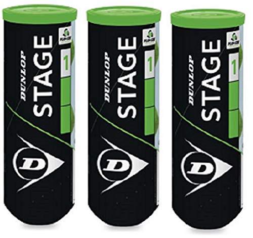 Dunlop Stage 1 Tennisball Pack 9 Bälle (3x3)