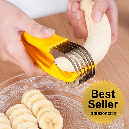 2019 Best Selling Cool Kitchen Gadgets Banana Cucumber Sausages - Fruits & Vegetables Slicer - Cutter with FREE Ice Cream Scoop