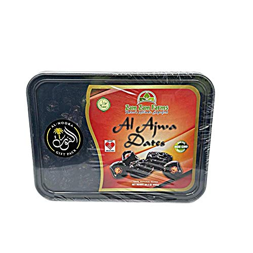 Al Ajwa Dates 800g No 1 Quality Dates imported from Saudi Arabia with AL-NOORA GIFT WRAP PACK