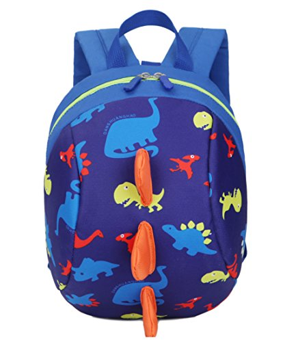 Product Image of the Toddler kids Dinosaur Backpack Book Bags with Safety Leash for Boys Girls (6...