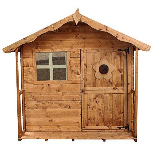 WALTONS EST. 1878 Wooden Garden Playhouse 5x5, Children's Outdoor Wendy House, Safety Styrene Windows (5ft x 5ft)