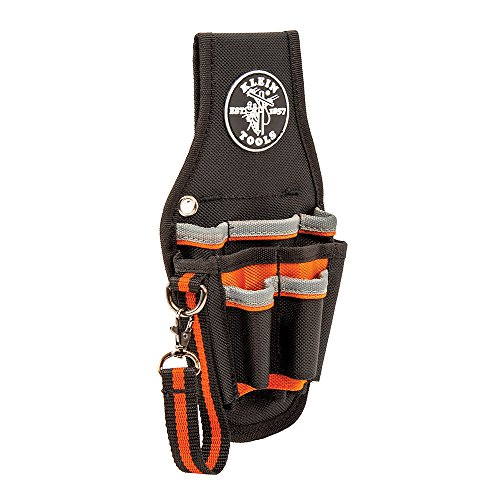 Klein Tools 5240 Tool Pouch, Tradesman Pro Maintenance Tool Pouch with 9 Pockets, Tape Thong, 2-Inch Tunnel Loop, Great Electrician Holster