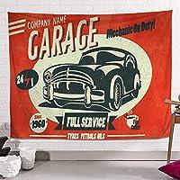 HESHUI レトロな車室タペストリー、コミックスタイル壁掛け、タペストリーリビングルームのベッドルーム寮の装飾壁用ブランケット (Size : 150x200cm)