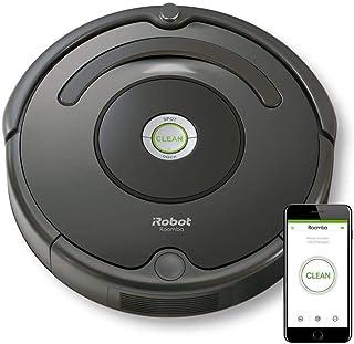 iRobot Roomba 676 aspiradora robotizada Sin bolsa Negro 0,6 L - Aspiradoras robotizadas (Sin bolsa, Negro, Alrededor, 0,6 L, AeroVac, Carga)