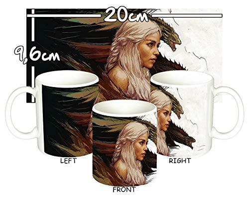 MasTazas Juego De Tronos Game of Thrones Daenerys Targaryen Emilia Clarke H Taza Mug
