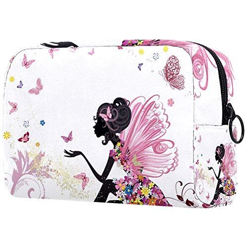 Trousse de toilette pour femme Motif papillons et fleurs