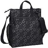 Lässig Casual Buggy Bag Organizer Aufbewahrungstasche Wickeltasche Kinderwagentasche inklusive Stroller Hooks, Reflective Star, schwarz
