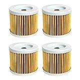 Piezas de motocicleta Filtro de aceite para Suzuki GSXS125 GSXR125 DR100 DR125 BURGMAN AN125 A 125 AN150 AN400 ABS EJECUTIVO 400 (Color : 4pcs yellow)