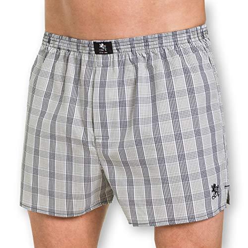 Otto Kern Herren Boxershorts 100% Baumwolle I Web-Boxer mit Knopfleiste, Stickerei + Weblabel I Herren Shorts aus reiner Baumwolle I Olive Grün I Gr. XL (7)