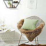 Lishu Velvet Hugging Pillow Cover Sofá Cojín Funda De Almohada 55*55cm Menta Verde