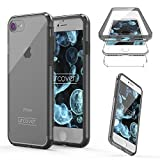"Urcover Apple iPhone 7 Hülle ""Unbreakable Case bekannt aus Galileo I 360 Grad Rundum-Schutz FullCover I Crystal Clear Full Body Cover I Handy-Tasche Schale Handy-Hülle Grau Transparent"