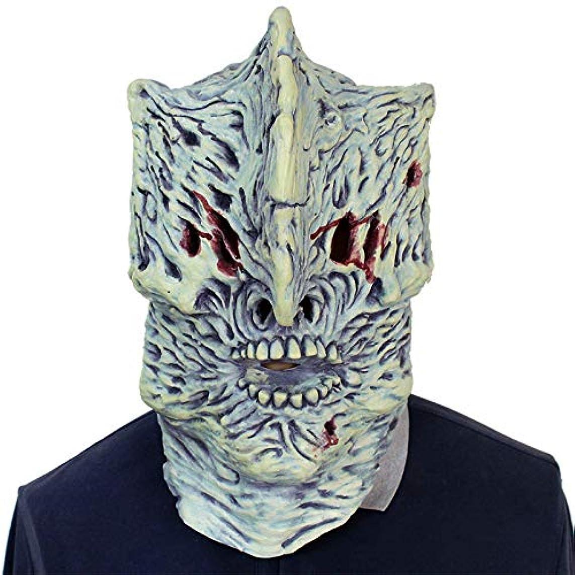 購入喪磁気ハロウィーンボールお化け屋敷テロリストフード付きラテックスマスク
