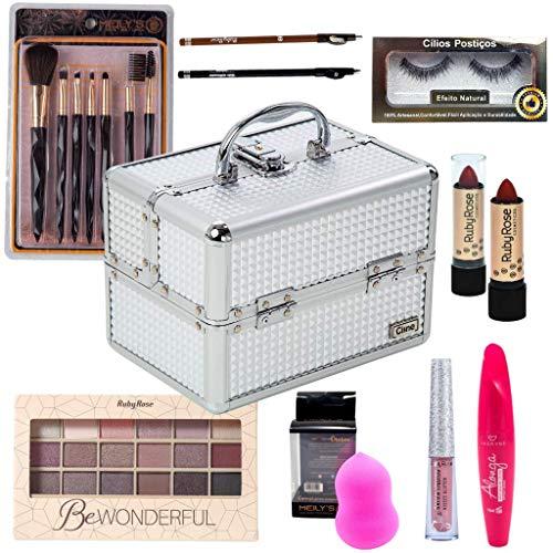 Maleta com kit de maquiagem básica Ruby Rose - CP005
