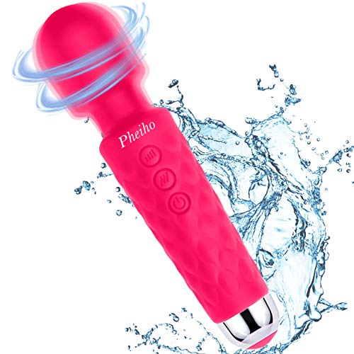 Pheiho Wireless USB Rechargeable Massager Wands with Powerful Frequency for Muscles & Sports Recovery - Pink