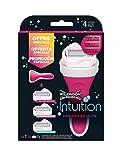 Wilkinson Sword Intuition PACK Variety Edition - Máquina de Afeitar Recargable Femenina de 4 Hojas con Jabón Hidratante + 3 Recambios de Cuchillas Autoadaptables, Kit Depilación de Mujer