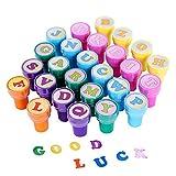 ULTNICE 26 piezas de estampillas de juguetes multicolores sellos de letras de juguete para niños...