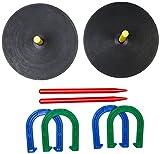 Amazon Basics - Hufeisen-Wurfspielset aus Gummi -