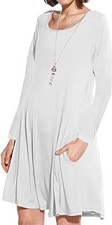 white tunic dress long sleeve