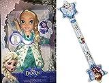 Various La Reine des Neiges - Poupon Chantant Elsa Chante avec Les Lumières avec en Bonus Baguette Gonflable étoile