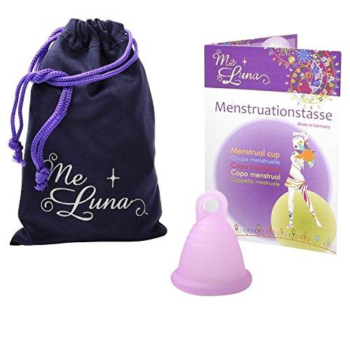 Me Luna Copa menstrual blanda, anillo rosa, talla S