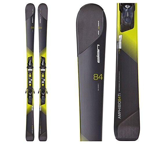 Elan Amphibio 84 Ti Skis with ELX 11.0 Fusion Bindings - 164cm/Black-Yellow