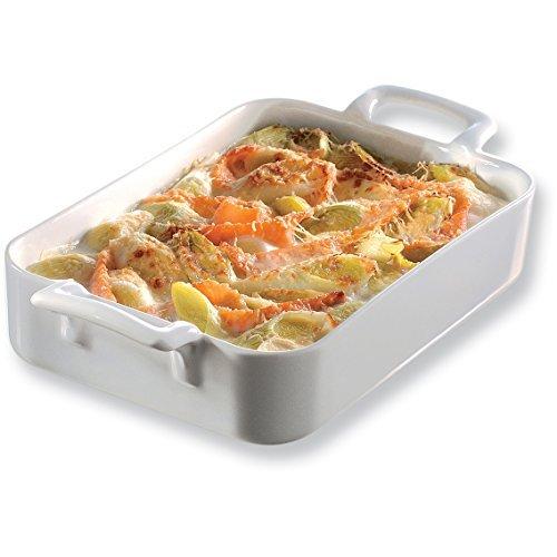 Revol 614850 Plat à rôtir et servir Belle Cuisine Porcelaine Blanc 10,63,5 x 18,4 cm