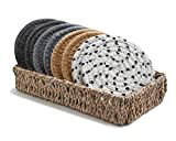 Best Coasters - Drink Coasters with Seagrass Basket Holder for Storage Review