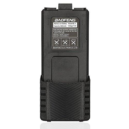Baofeng BL-5 3800mAh Batería de Gran Capacidad para Baofeng UV-5R/UV-5RE Plus Walkie Talkie, Negro