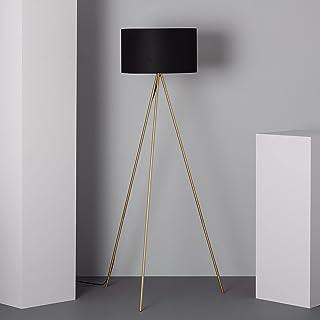 LEDKIA LIGHTING Lampadaire Carla 1620x450x450 mm Noir E27 Aluminium pour Décoration Salon, Chambre, Cuisine