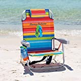 Tommy Bahama Backpack Cooler Chair with Storage Pouch and Towel Bar...