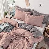 LUCHONG Juego de funda de almohada de 3 piezas, ultra suave y transpirable, funda de edredón con 2 fundas de almohada, juego de cama de 3 piezas para todas las estaciones, A, 180 x 220 cm
