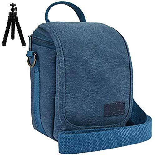 Azul Funda Protectora con Bandolera Ajustable Bolsa para DLSR cámara de Fotos para Canon EOS M100 M10 M50 EOS M5 M6 with (15-45mm) SX430 SX420 SX540 SX530 SX520