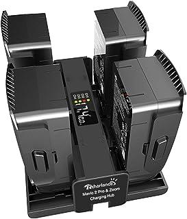 Rcharlance DJI Mavic 2 Pro/Mavic 2 Zoom 充電器 4 in 1 バッテリー 急速充電 LED充電情報表示 電池保護 携帯便利 折り畳み式 充電器 Mavic 2 ドローン バッテリー専用充電ハブ