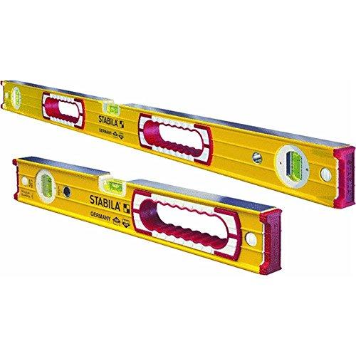 Stabila 37816 48-Inch and 16-Inch Aluminum Box Beam Level Set -