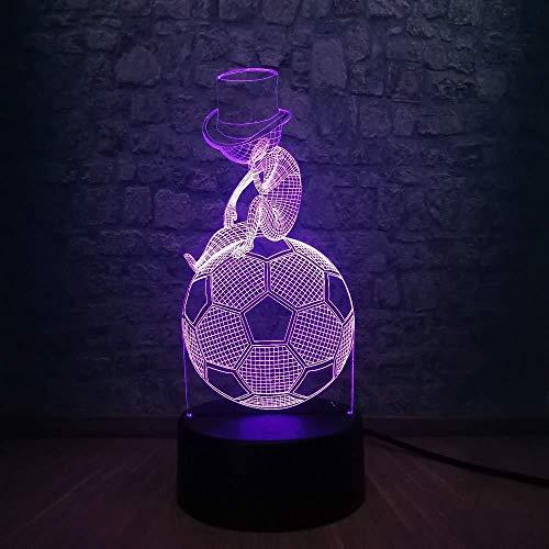 Basketbalgeschenken, kerstgeschenken, speellampen, creatieve sportstijl, LED-lamp, USB 3D-sleutelhanger, muts, kinderen voelen zich aan hoe oefeningen, voetbal, gedachten, kunst, huisdecoratie, gloeilamp met afstandsbediening