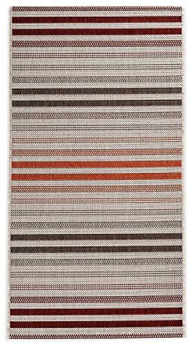 In- und Outdoor-Teppich Hot Stripes 60x110cm Kunststoff für Innen und Außen