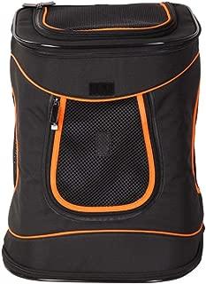 Double Shoulder Pet Cage Portable Pet Travel Bag Good Breathability Comfort Multicolor Optional CQOZ (Color : Black)