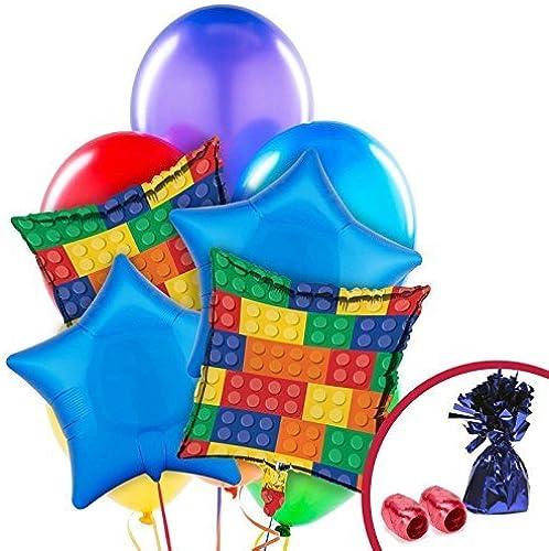 Building Block Balloon Bouquet by BirthdayExpress