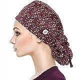 Jessboyy Bonnet de Gommage Avec Boutons Chapeau Bouffant Avec Bandeau Pour Femmes et...