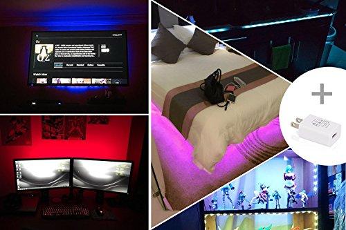 Led Strip Lights 6.56ft for 40-60in TV,Pangton Villa USB LED TV Backlight Kit with Remote - 16 Color 5050 Leds Bias Lighting for HDTV