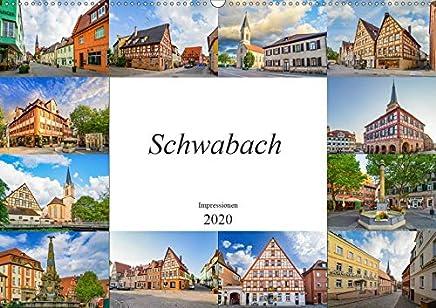 Schwabach Impressionen (Wandkalender 2020 DIN A2 quer): Zwölf zauberhaft schöne Aufnahmen der Stadt Schwabach (Monatskalender, 14 Seiten )
