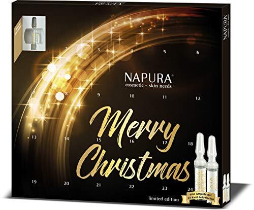 Ampullen-Kur Sonderaktion NAPURA Kosmetik | Limitierte Edition mit Goldampulle | straffend & pflegend | 24 x 2 ml